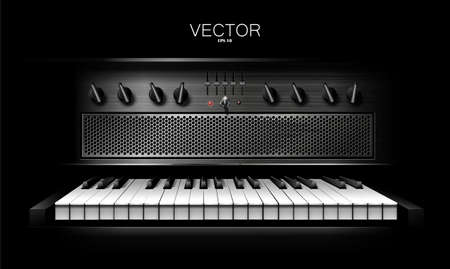 Realistic virtual synthesizer for recording studios. Piano Vector