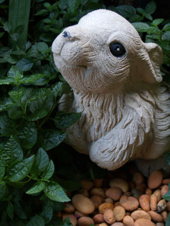 earthenware: rabbit model earthenware Stock Photo