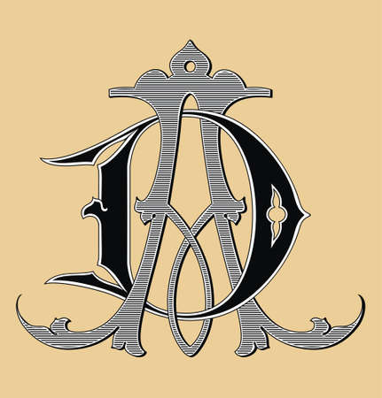 Vintage monogram AC tattoo  photo