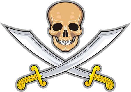 scurvy: Pirate symbol Jolly Roger Stock Photo