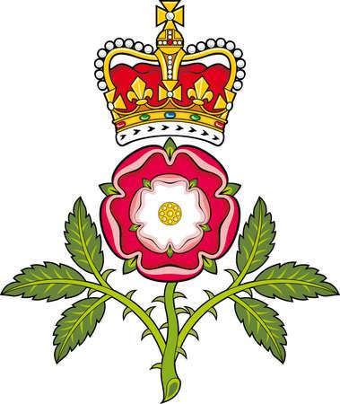 Royal badge of England Heraldic Tudor rose and S Edward s Crown Banco de Imagens - 21601381