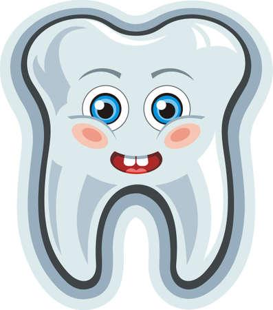 Smiling cartoon tooth photo
