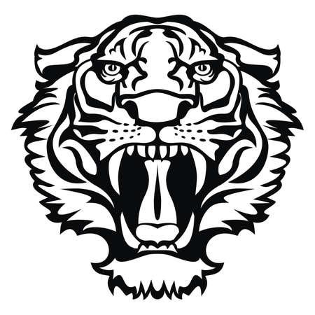 虎の刺青  イラスト・ベクター素材