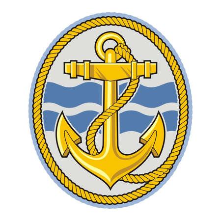 錨とロープ ベクトル