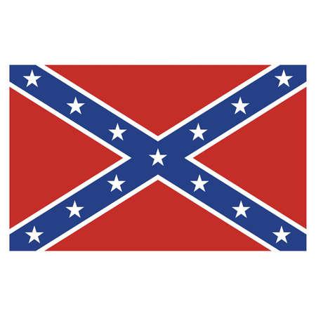rebel: Confederate Rebel Flag  Illustration