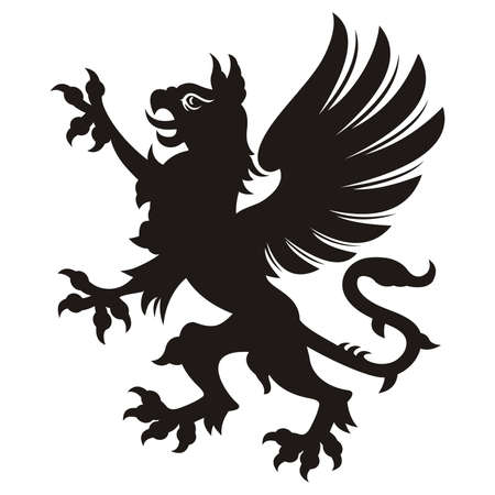 gryphon: Griffin tattoo  Vector