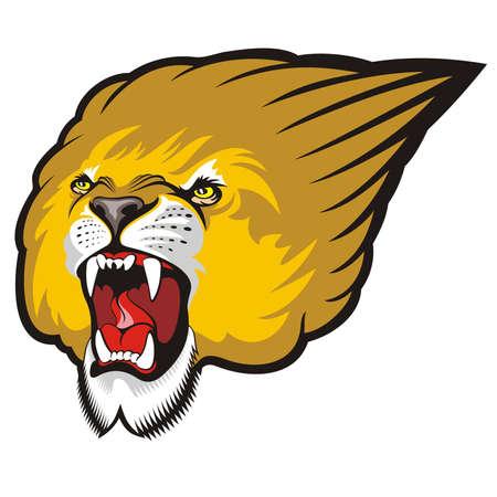 roaring tiger: Lion roaring Illustration