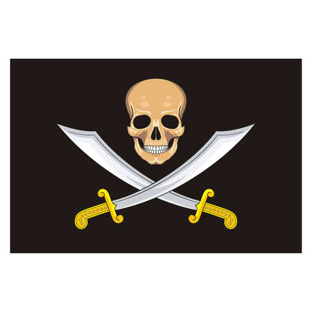 scurvy: Pirate Flag Jolly Roger  Vector  Illustration