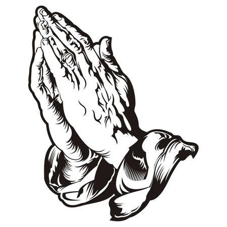 祈りの手タトゥー ベクター
