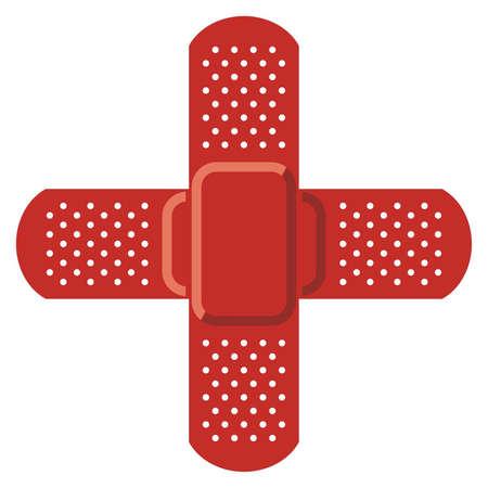 cruz roja: Cruz Roja - Vector vendaje adhesivo