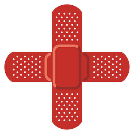 red cross: Red cross - Adhesive bandage  Vector Illustration