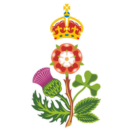 thistle: Royal Badge of United Kingdom of Great Britain and Northern Ireland  Vector Illustration