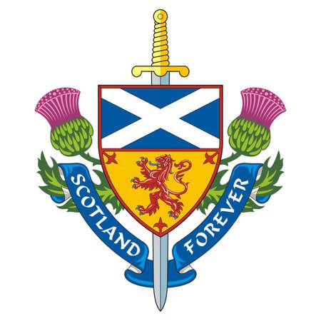 Escocia para siempre símbolo de Escocia Vector