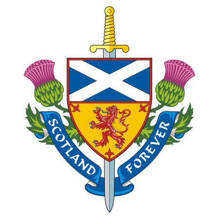 scotland: Scotland forever   Symbol of Scotland    Vector Illustration