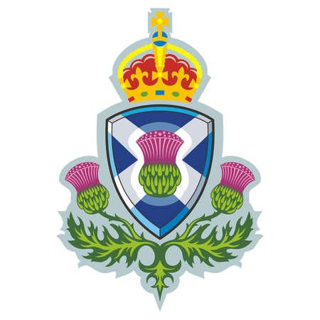 스코틀랜드 엉겅퀴 스코틀랜드 벡터의 상징