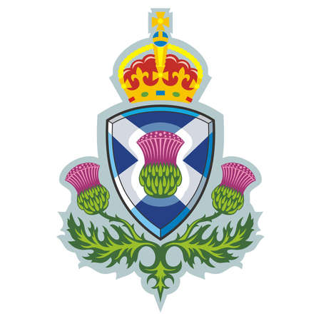 Scottish thistle  Symbol of Scotland   Vector