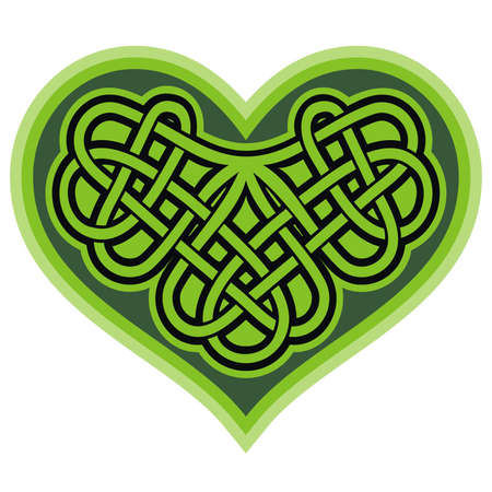 Shamrock heart  Celtic symbo  Vector Vector