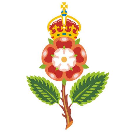 tudor: Tudor rose Royal badge of England  Vector  Illustration