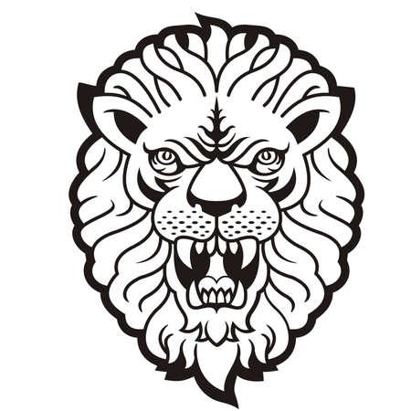 roaring tiger: Roaring tiger tattoo  Illustration