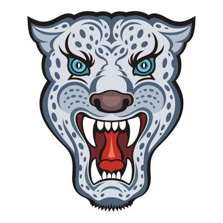 irbis: Irbis - Snow Leopard vector Illustration