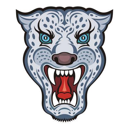 snow leopard: Irbis - Snow Leopard vector Illustration