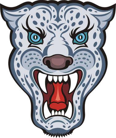 Irbis (snow leopard) Stock Photo