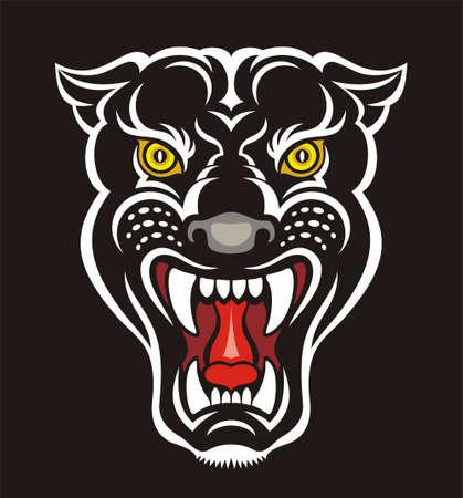 Panther print Stock Photo