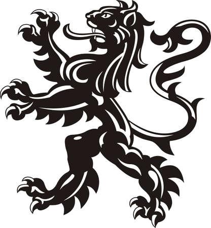 Heraldic lion tattoo 스톡 콘텐츠