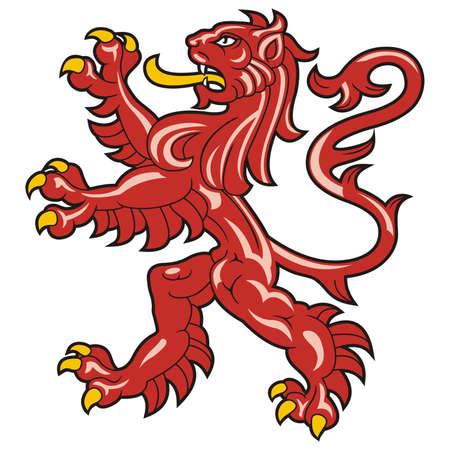 Heraldic lion / vector