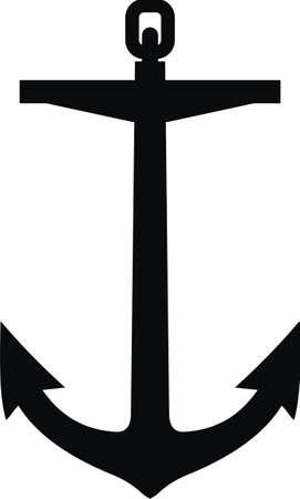 Anchor black silhouette tattoo Banco de Imagens - 58423542