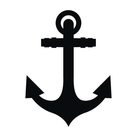 Anchor black silhouette and tattoo Banco de Imagens - 59283276