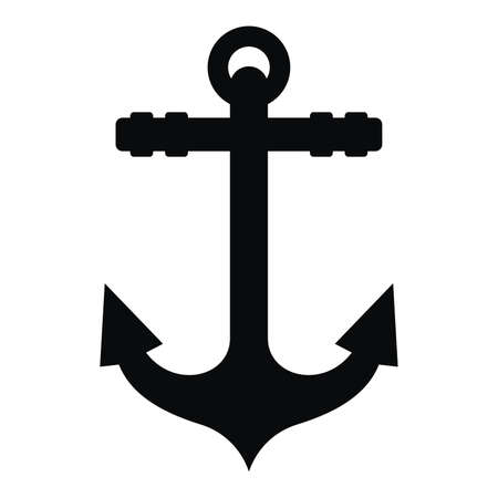 Anchor black silhouette and tattoo Banco de Imagens - 59283277