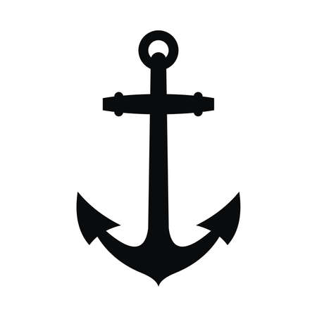 Anchor black silhouette and tattoo Banco de Imagens - 59283279