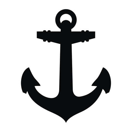 Anchor black silhouette and tattoo