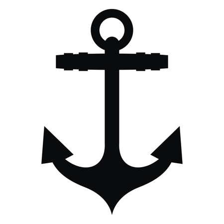 Anchor black silhouette and tattoo Banco de Imagens - 59283289