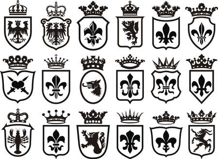Coat of Arms set heraldic element