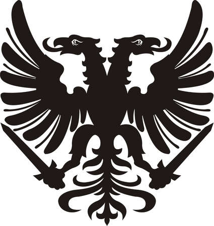 Heraldic eagle Banco de Imagens - 108911405