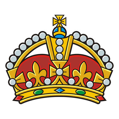 Heraldic gold crown vector 일러스트