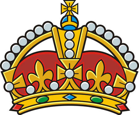 Heraldic gold crown illustration Фото со стока