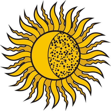 Solar eclipse. Vector