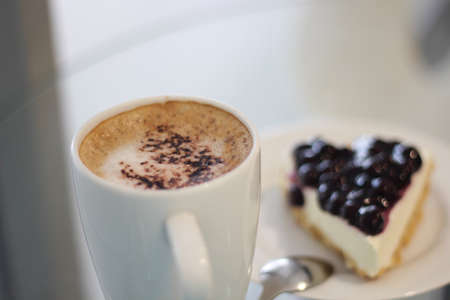 Blue Berry Pie and Coffee Stock Photo - 13880379