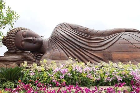 buddha face: Sleeping Buddha Stock Photo