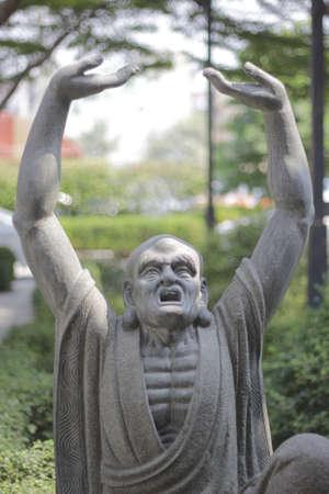 stone buddha: Carved Stone buddha statue