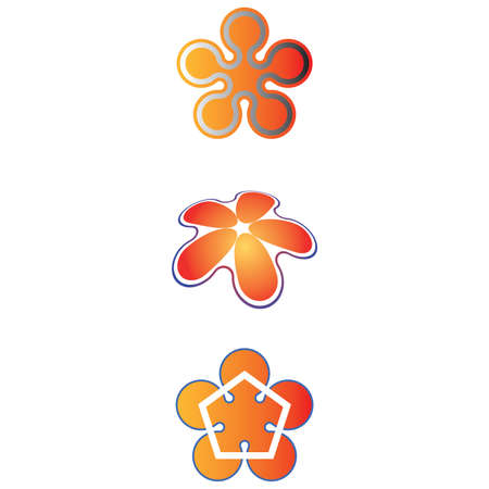 five petals: Simplification of five petals symbol Illustration