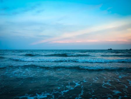 Beautiful of sea at sunset time Stock Photo