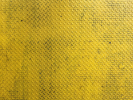 Yellow metal or steel diamond plate texture background