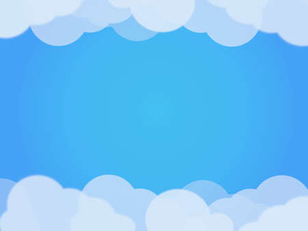 White and transparent clouds on blue gradient sky background. 版權商用圖片