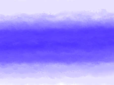Watercolor brushing abstract. Digital art blue color painting from dark to light