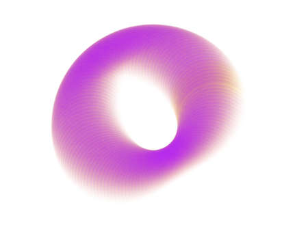 Creative incomplete circle abstract brushing. Color ink round stroke by digital art painting.