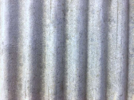 Light gray wave roof tile pattern. Texture of wall design decoration background. Banque d'images